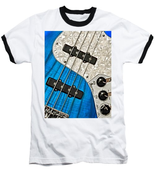 Blues Bass Baseball T-Shirt