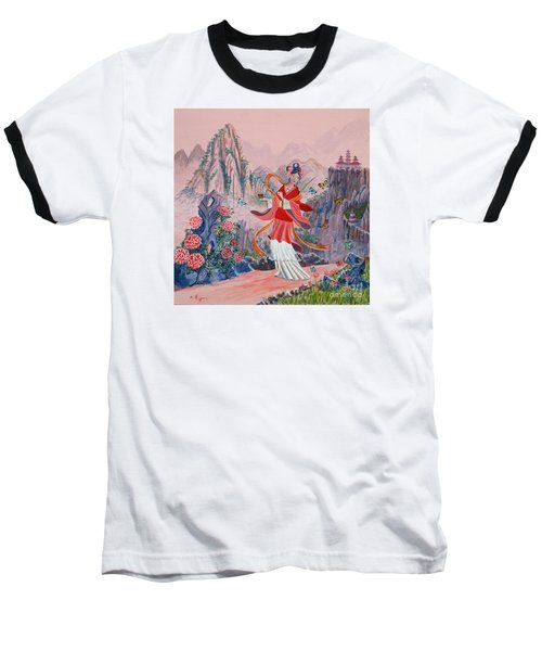 Baseball T-Shirt featuring the painting Bo Chaa by Anthony Lyon