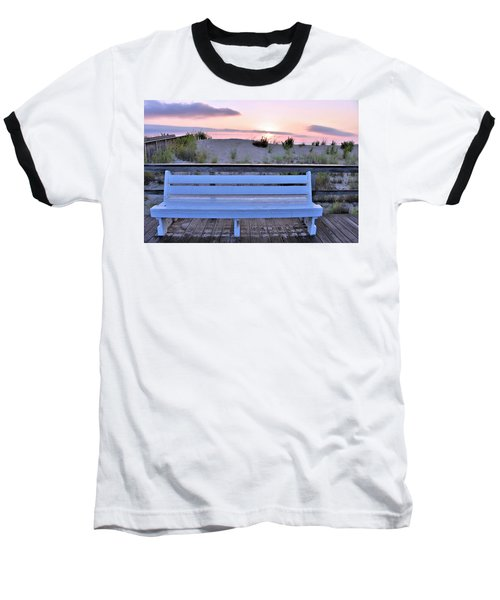 A Welcome Invitation -  The Boardwalk Bench Baseball T-Shirt