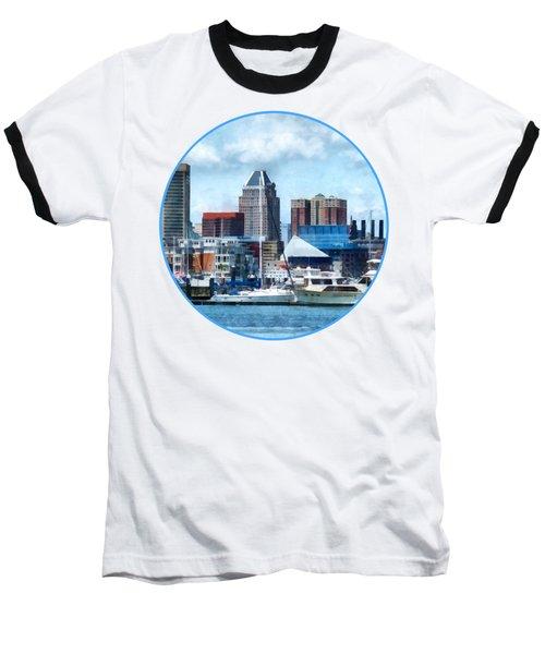 Boat - Baltimore Skyline And Harbor Baseball T-Shirt