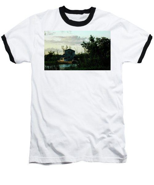 Boat House Baseball T-Shirt by Cynthia Powell