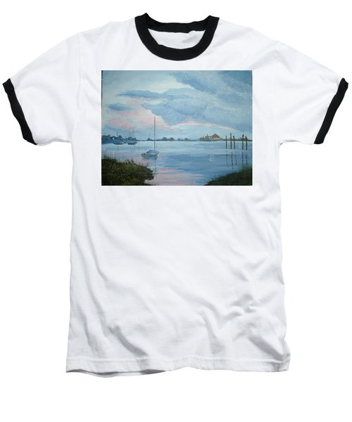 Boat Sunset Baseball T-Shirt