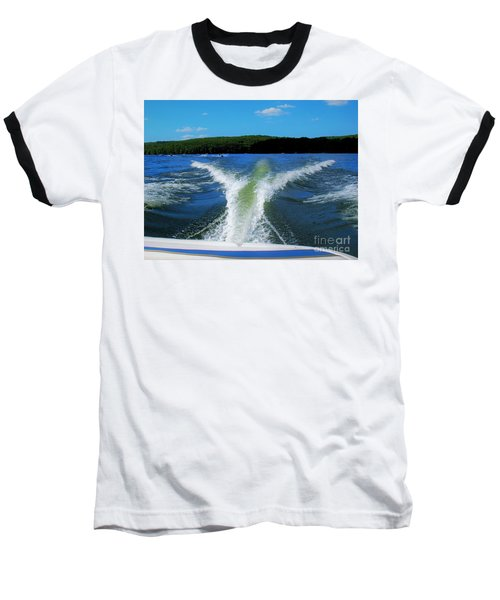 Boat Wake Baseball T-Shirt