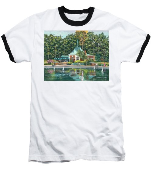 Boathouse In Central Park, N.y. Baseball T-Shirt