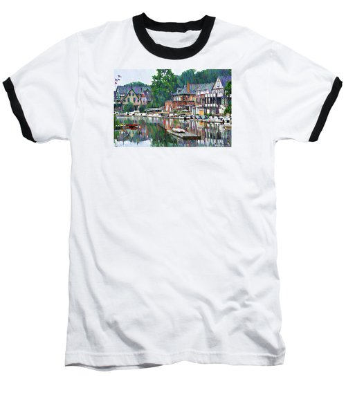 Boathouse Row In Philadelphia Baseball T-Shirt