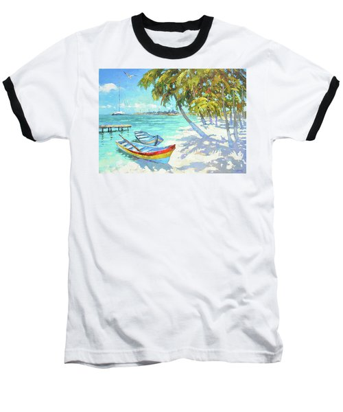 Baseball T-Shirt featuring the painting Boats  by Dmitry Spiros