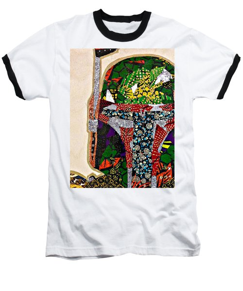 Baseball T-Shirt featuring the tapestry - textile Boba Fett Star Wars Afrofuturist Collection by Apanaki Temitayo M