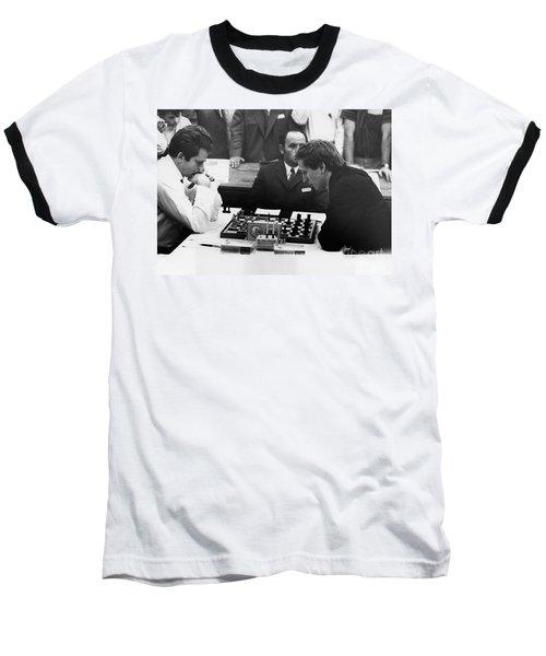 Bobby Fischer (1943-2008) Baseball T-Shirt