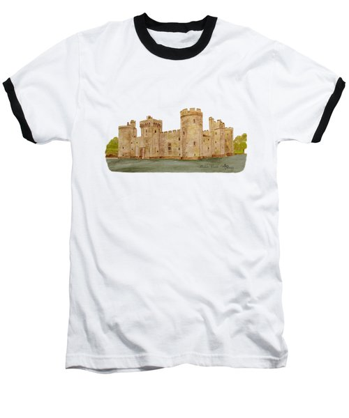 Bodiam Castle Baseball T-Shirt by Angeles M Pomata