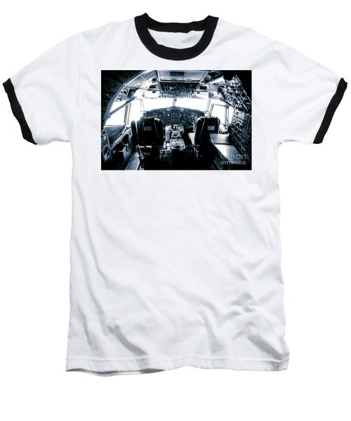 Baseball T-Shirt featuring the photograph Boeing 747 Cockpit 22 by Micah May