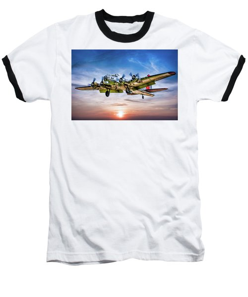 Baseball T-Shirt featuring the photograph Boeing B17g Flying Fortress Yankee Lady by Chris Lord