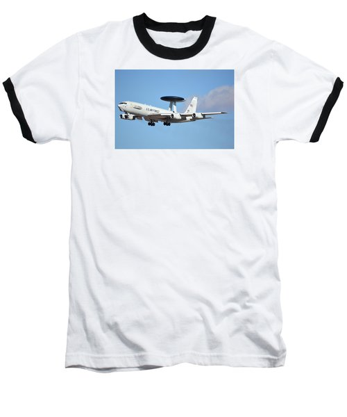 Boeing E-3b 71-1407 Sentry Phoenix Sky Harbor January 9 2015 Baseball T-Shirt by Brian Lockett