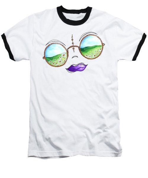 Boho Gypsy Daisy Field Sunglasses Reflection Design From The Aroon Melane 2014 Collection By Madart Baseball T-Shirt by Megan Duncanson