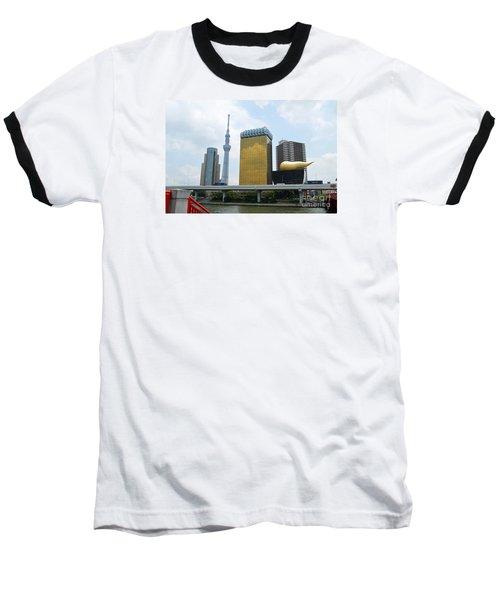 Tokyo Bokutei Dori  Baseball T-Shirt by Eva Kaufman