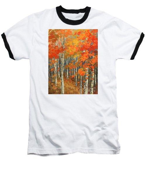 Baseball T-Shirt featuring the painting Bold Banners by Tatiana Iliina