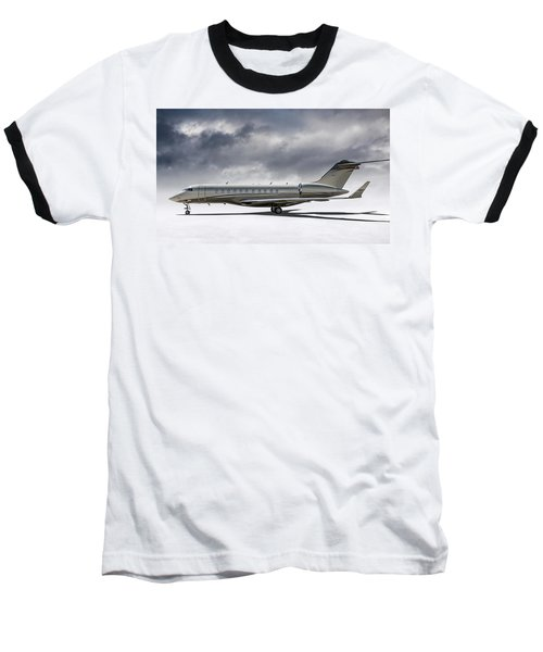 Baseball T-Shirt featuring the digital art Bombardier Global 5000 by Douglas Pittman