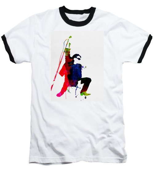 Bono Watercolor Baseball T-Shirt by Naxart Studio