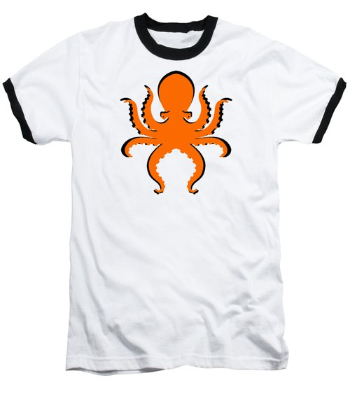 Baseball T-Shirt featuring the photograph Boo The Big Orange Octopus  by Edward Fielding