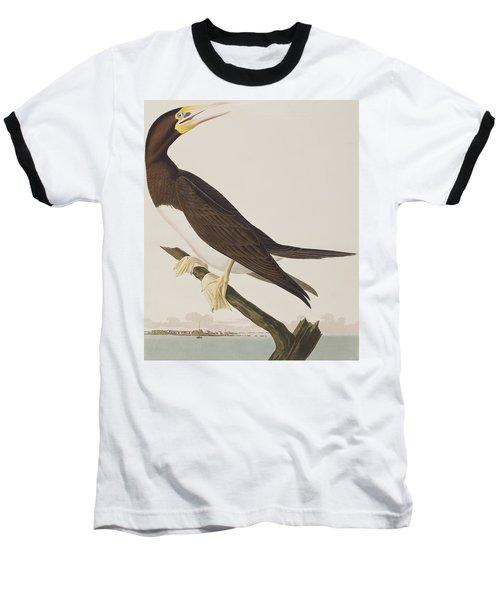 Booby Gannet   Baseball T-Shirt by John James Audubon