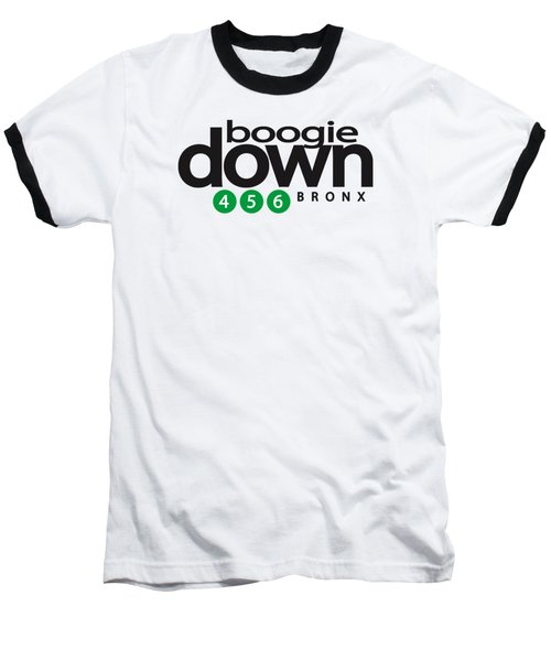 Boogie Down White Baseball T-Shirt