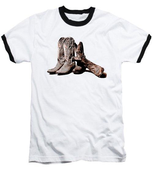 Boot Friends White Background Baseball T-Shirt