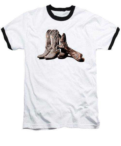 Boot Friends White Background Baseball T-Shirt