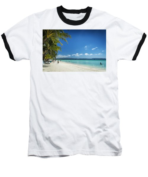 Boracay Island Tropical Coast Landscape In Philippines Baseball T-Shirt