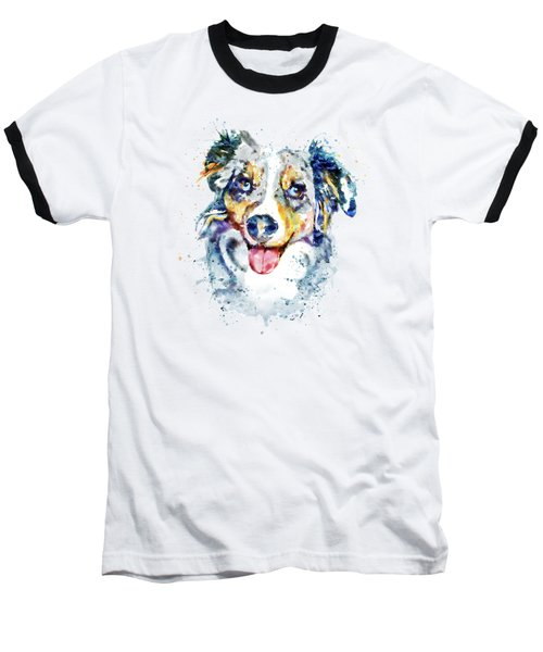 Baseball T-Shirt featuring the mixed media Border Collie  by Marian Voicu