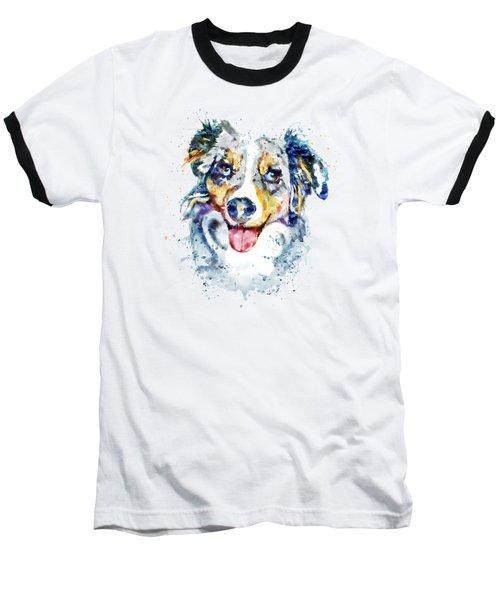 Border Collie  Baseball T-Shirt by Marian Voicu