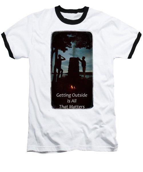 Boys Looking On Baseball T-Shirt