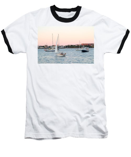 Boston Harbor View Baseball T-Shirt