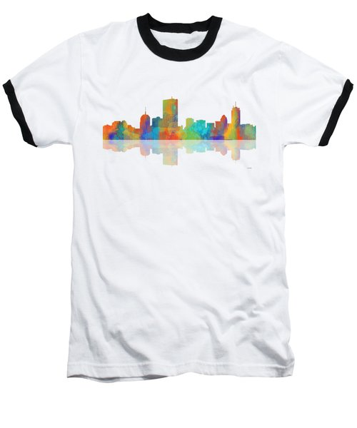 Boston Ma. Skyline Baseball T-Shirt