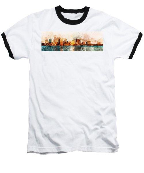 Boston, Panorama - 10 Baseball T-Shirt