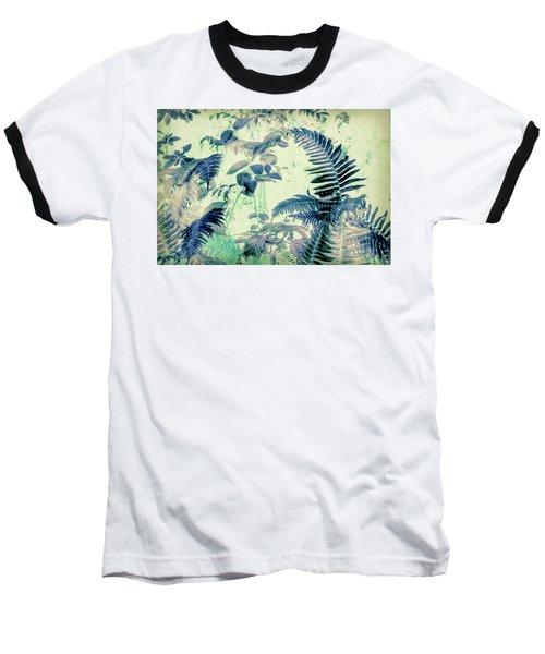 Baseball T-Shirt featuring the mixed media Botanical Art - Fern by Bonnie Bruno