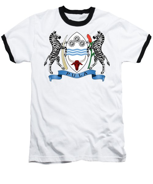 Baseball T-Shirt featuring the drawing Botswana Coat Of Arms by Movie Poster Prints