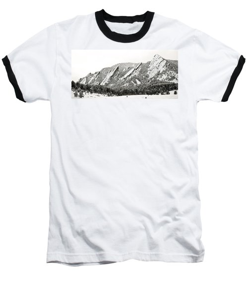 Boulder Flatirons Colorado 1 Baseball T-Shirt