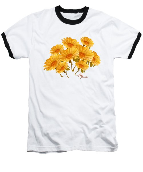 Bouquet Of Daisies Baseball T-Shirt by Angeles M Pomata