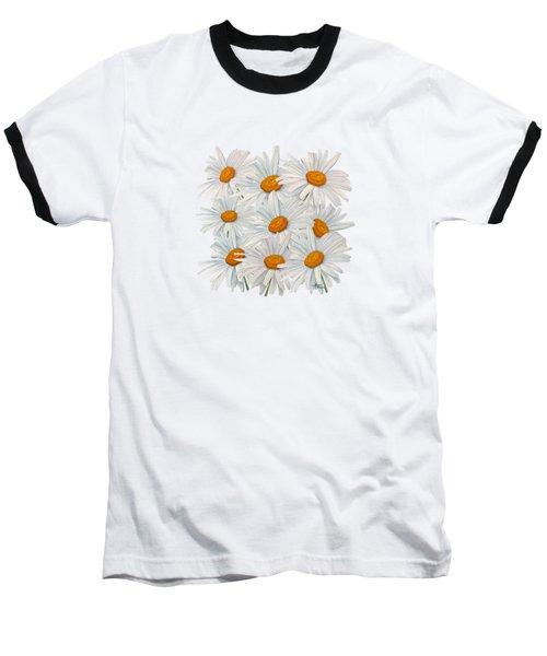 Bouquet Of White Daisies Baseball T-Shirt