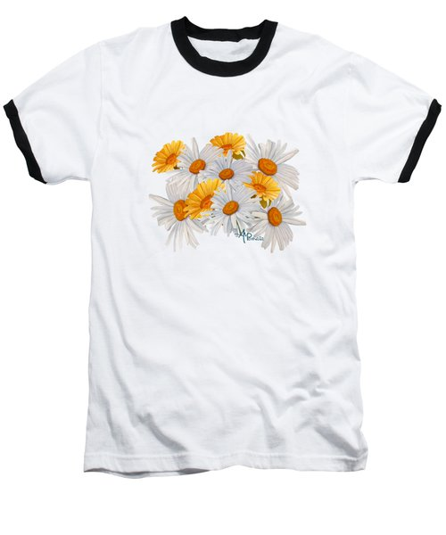 Bouquet Of Wild Flowers Baseball T-Shirt by Angeles M Pomata