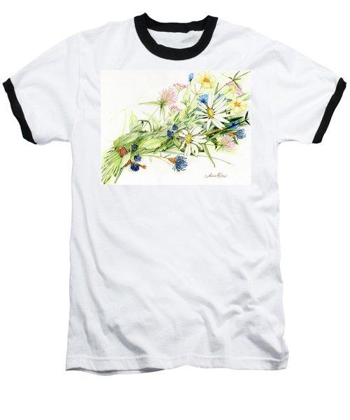 Bouquet Of Wildflowers Baseball T-Shirt