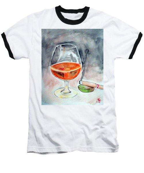 Bourbon And Smoke Baseball T-Shirt