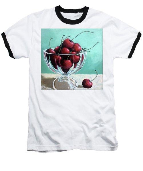 Bowl Of Cherries Baseball T-Shirt by Linda Apple