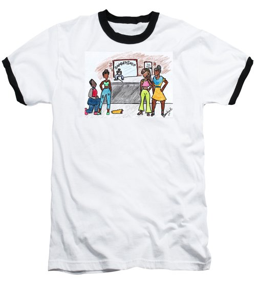 Boy Please Baseball T-Shirt by Diamin Nicole