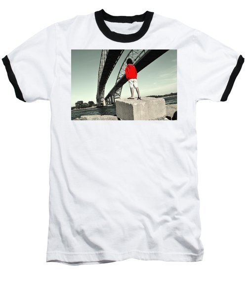 Boy Under Bridge Baseball T-Shirt