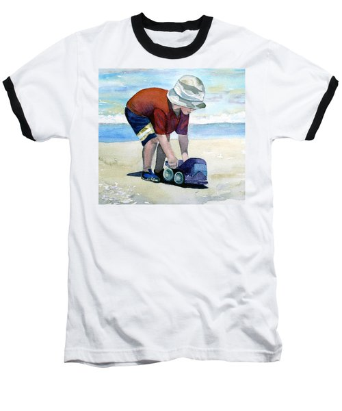 Boy With Truck Baseball T-Shirt