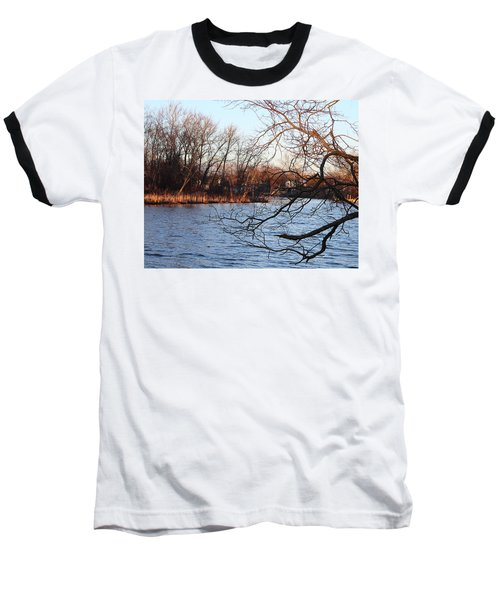 Branches Over Water Baseball T-Shirt