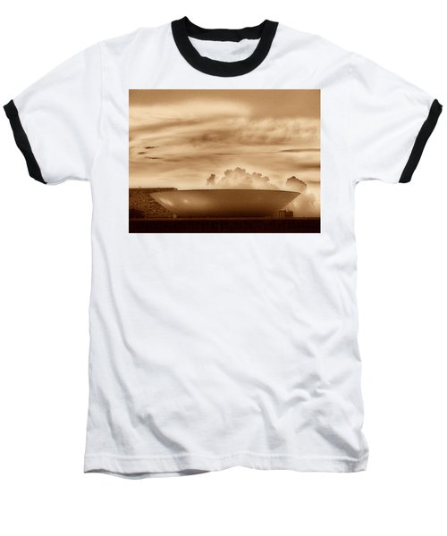 Baseball T-Shirt featuring the photograph Brasilia In Sepia by Beto Machado