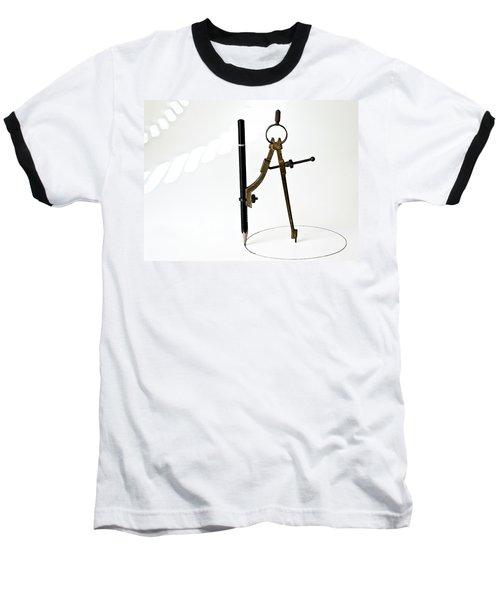 Brass Compass And Pencil Baseball T-Shirt