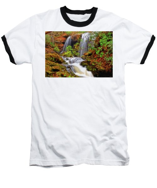 Brasstown Falls 013 Baseball T-Shirt by George Bostian