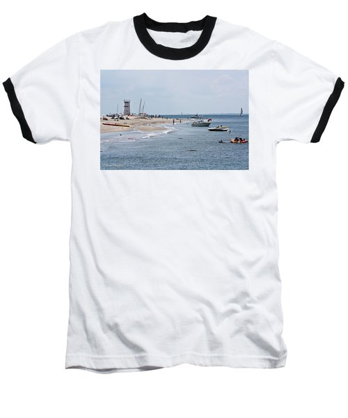 Baseball T-Shirt featuring the photograph Breezy Point Lighthouse by Ann Murphy